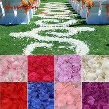 1000 шт. шелк лепестки роз для Свадебная вечеринка Конфетти Для украшения стола аксессуары