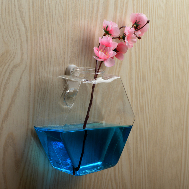 2018 תליית קיר זכוכית אגרטל פרח עציץ סיר חממה מיכל בית תפאורה גן