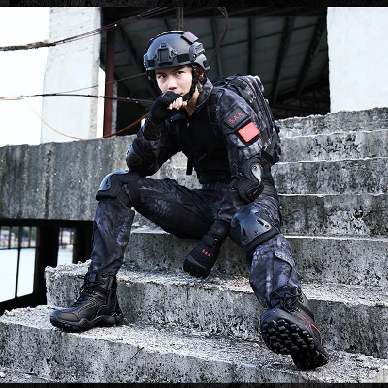 207 Zapatillas Hh La Ejército Cuero Antideslizante Trabajo De Barcos Zapatos Botas Hombres black Deporte Los Combate Sand Tácticas Desierto Calidad Del Marca Militar q4wRnf