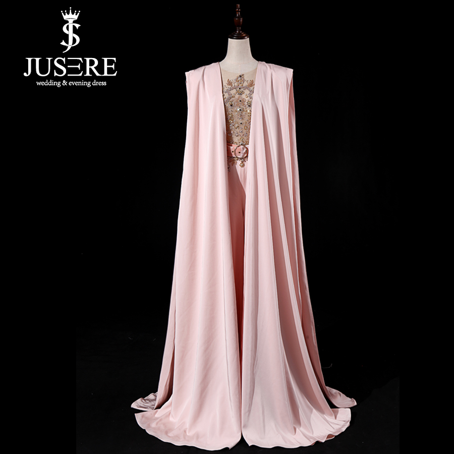 Image 2 - JUSERE Real Picture 2019 Pink Runway Evening Dress with Pants Long Evening Dresses Vestido de festaProm Dresses   -