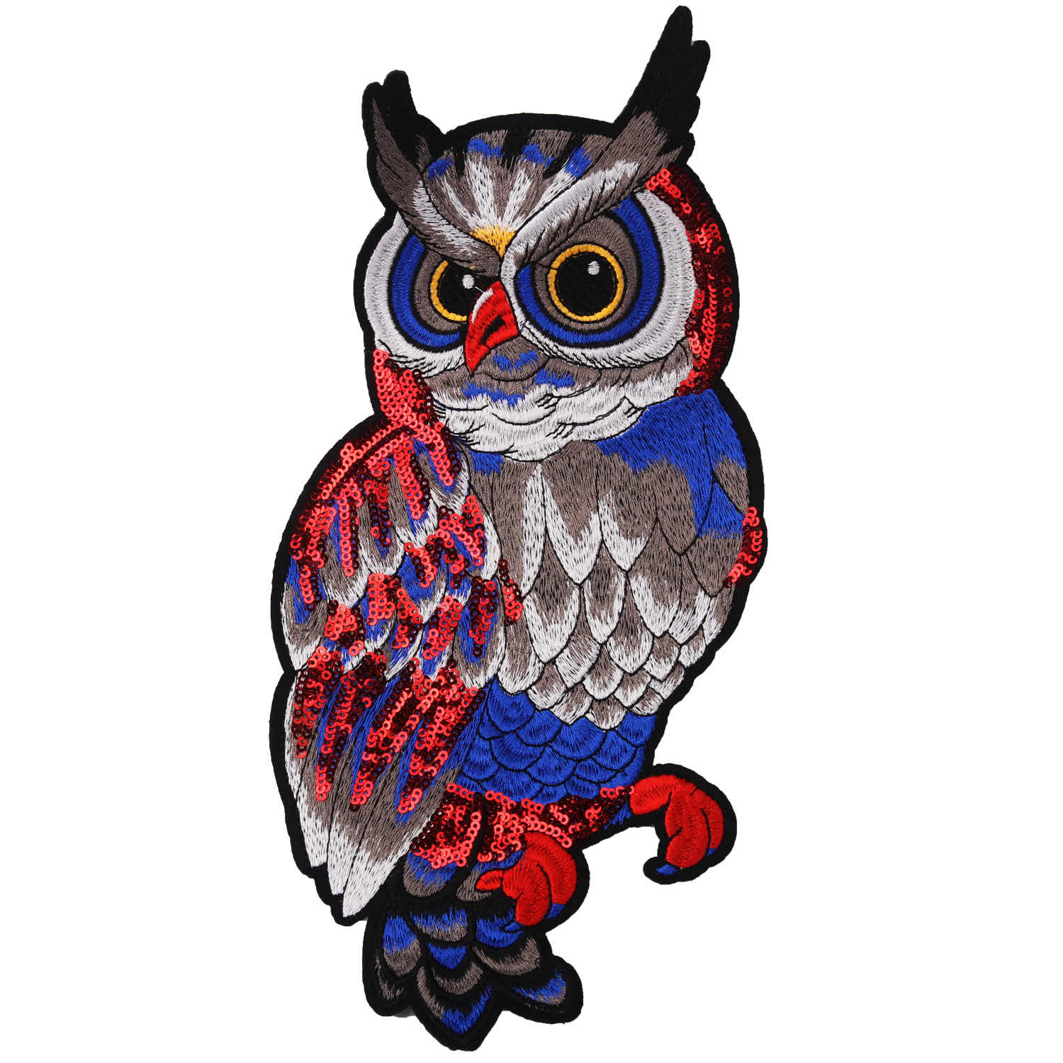 PGY Colorful Animal Appliques Cartton Owl Patches Iron On patches for clothing 3D High Quality Clothes Bags Shoes Badges Sticker