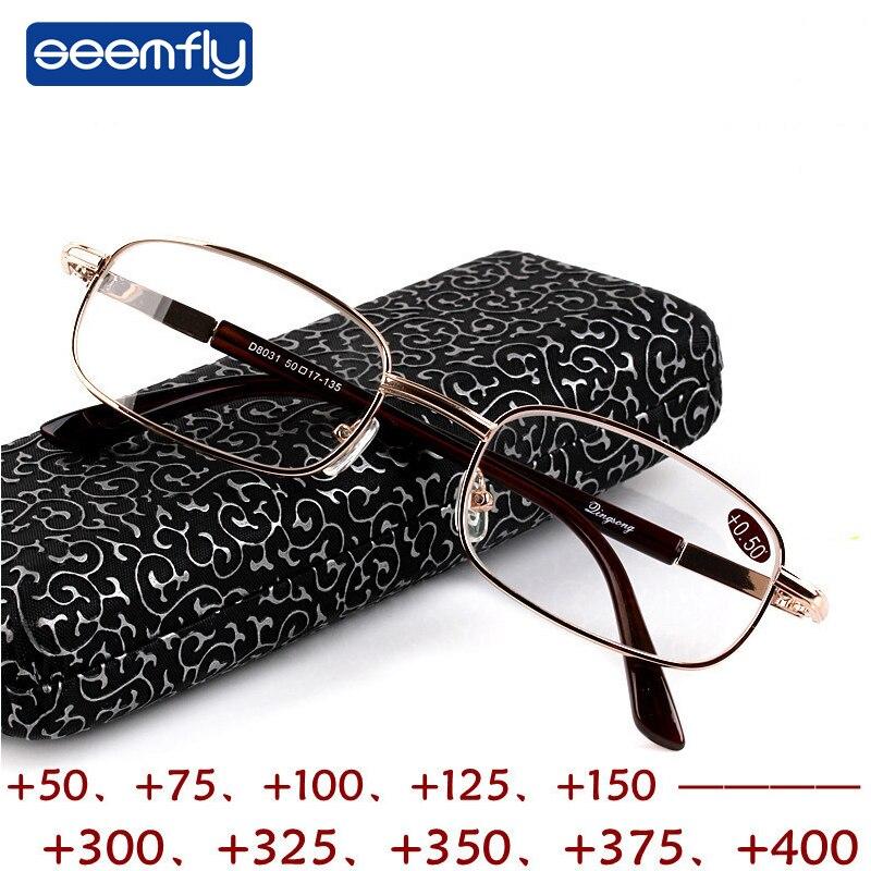 Seemfly nouvelles lunettes de lecture myopie + 50 + 75 + 100 + 125 + 150 + 175 200 + 225 + 250 + 275 + 325 + 350 + 375 + 400 + 450 + 500 + 550 +