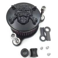 For 2004 2014 12 13 Harley Davidson Sportstar XL 883 AND 1200 Air Cleaner filter Kit K&N Motorcycle Accessories Chrome / Black