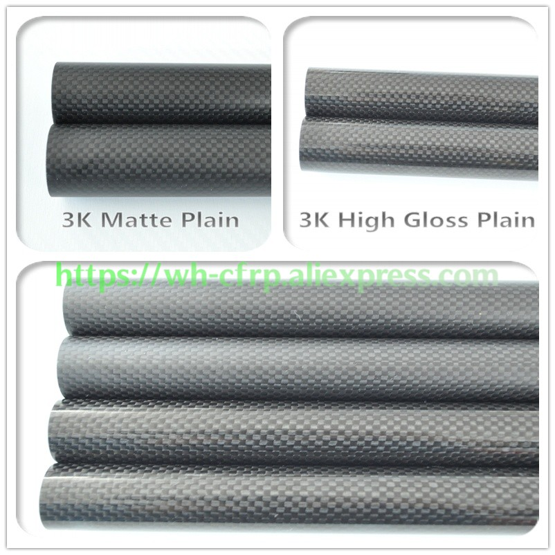 OD 7mm X ID 5mm 6mm Length 500mm Carbon Fiber Tube (Roll Wrapped)Model tubes, with 100% full carbon 7*5 | 7*6