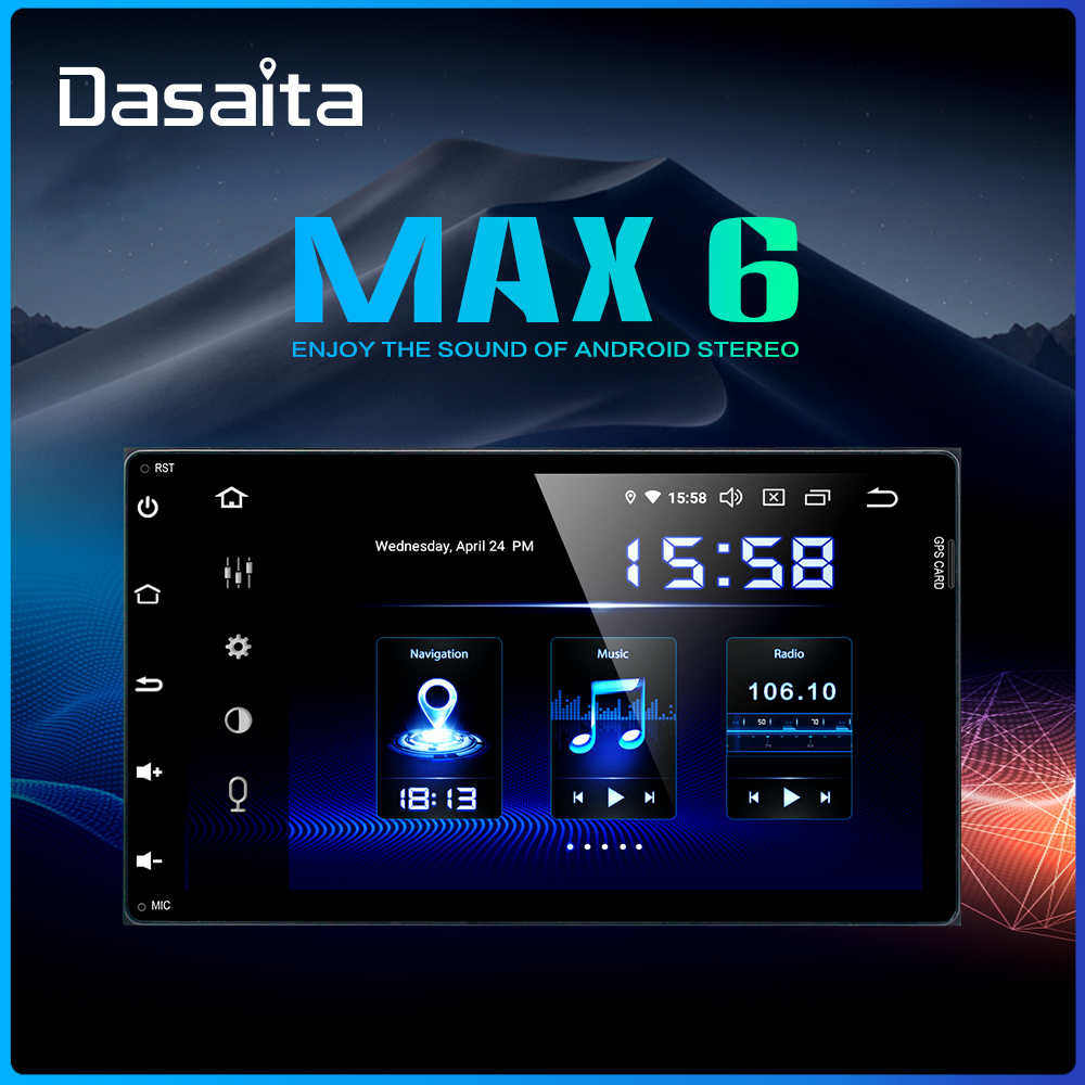 Dasaita 2 Din Autoradio Car Android 9 0 for Toyota Corolla Auris Fortuner 2017 Car Stereo