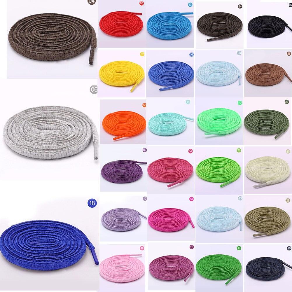 1 Paar Oval Athletisch Schnürsenkel Sport Sneaker Stiefel Schnürsenkel Saiten Mehrfarbige Feste Farbe 33 Candy Farbe Mode Schnürsenkel