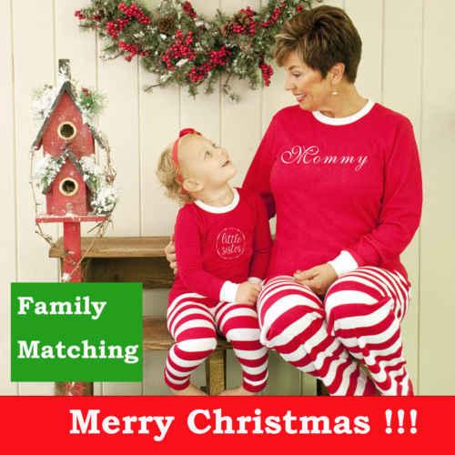 ครอบครัวคริสต์มาสชุดนอนผู้ใหญ่ชุดนอนชุดนอนเด็กแรกเกิด romper คริสต์มาสเสื้อผ้าเด็กใหม่ปีชุดจับคู่