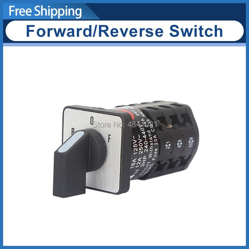 Changeover Switch ZH-A EN61058 Motor Reversing Switch Forward&Reverse Switch SIEG C3-181