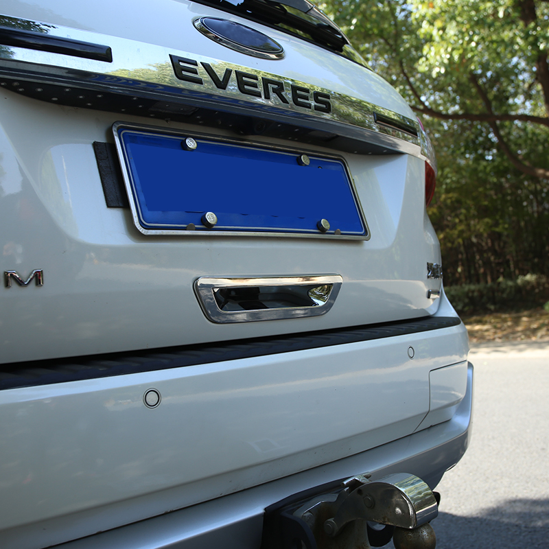 My Good Car ABS Chrome Rear Trunk <font><b>Handle</b></font> Protector Cover Trim Sticker for <font><b>Ford</b></font> New <font><b>Everest</b></font> 2015 2016 2017 Stickers Accessories image