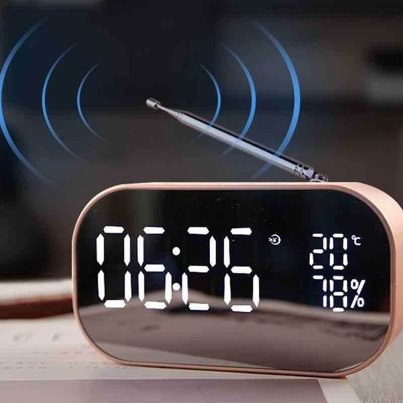 Bluetooth динамик беспроводной мини телефон будильник домашний маленький звук компьютер автомобильный сабвуфер украшения