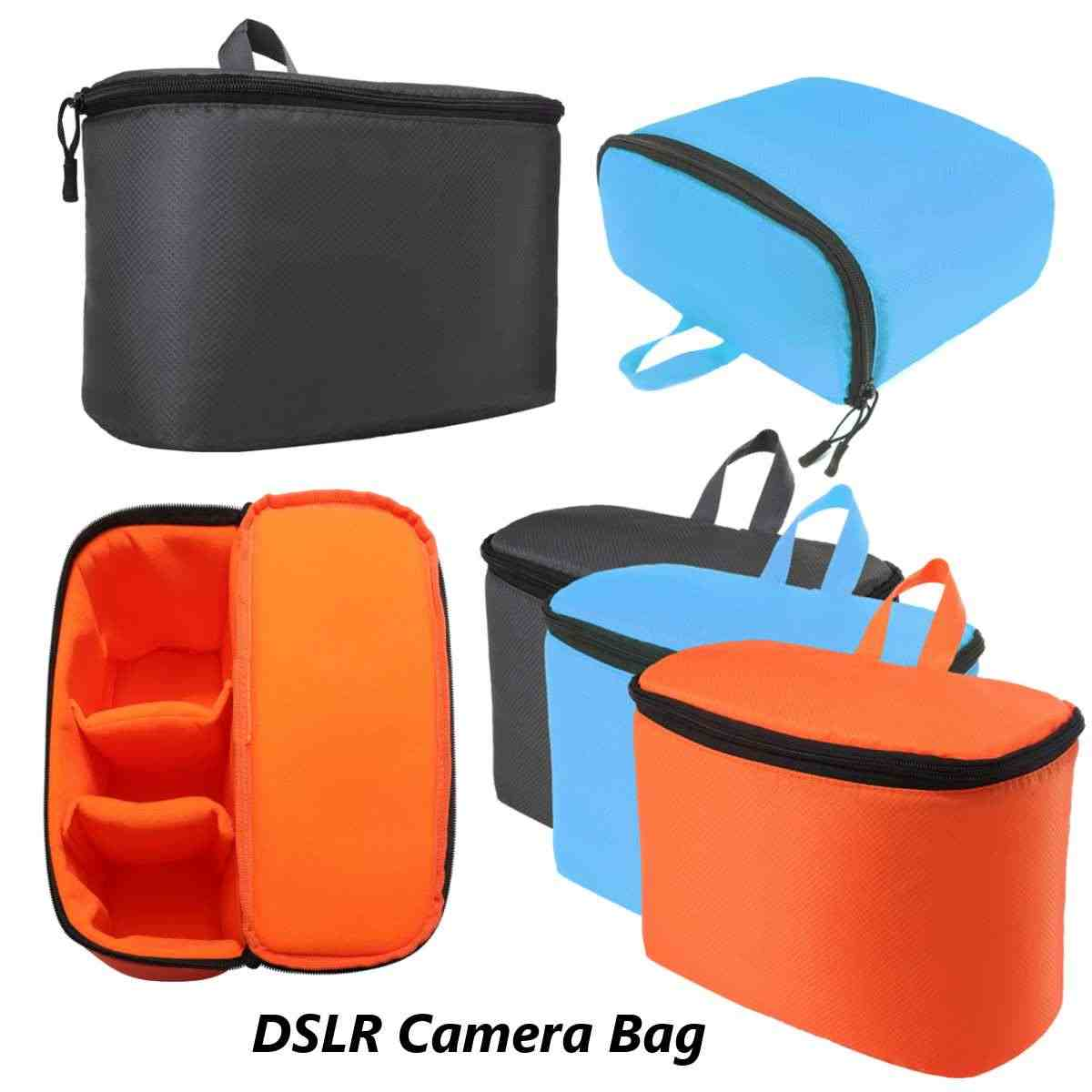 Waterproof DSLR SLR Camera Lens Bag Partition Padded Insert Inner Divider Photo Lens Case Pouch Portable Organizer 3 Colors