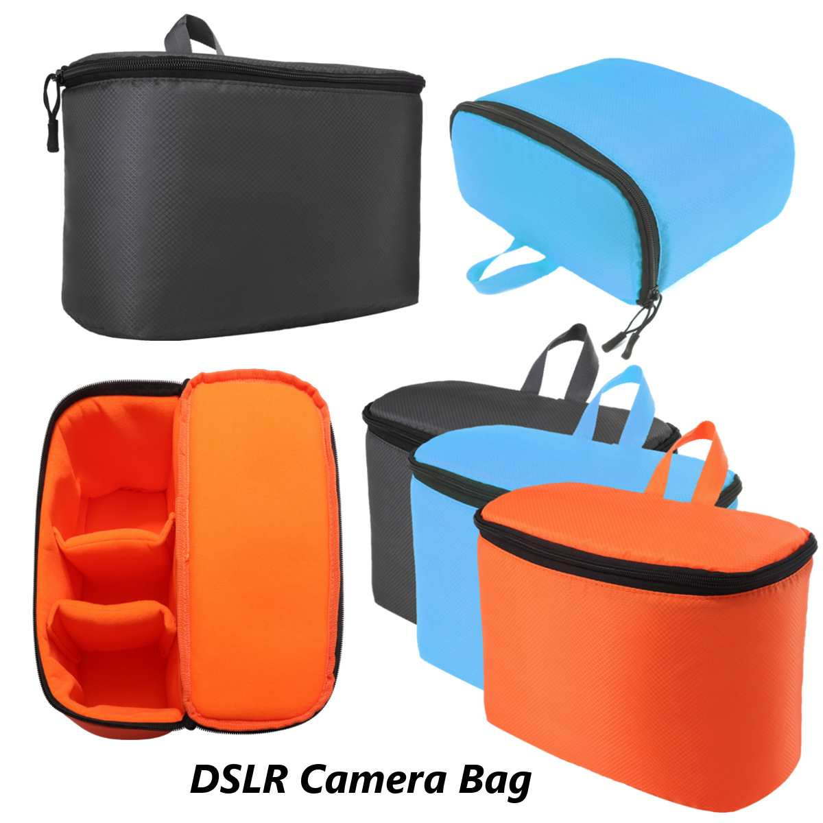 Mirrorless Camera Bag #2 Foldable Waterproof Insert Padded Mirrorless Camera Bag Inner Divider Partition Folding Protective Pouch for Mirrorless Camera