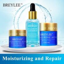 Breylee Hyaluronic Acid Set Moisturizing Serum Face Facial Cream Eye Improves Dryness Rough Whitening Repairing Skin Care