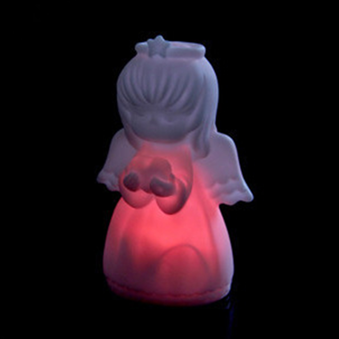 7*6*8cm  Night Light Colorful Angel LED Light Silicone For Children And Kids Gift