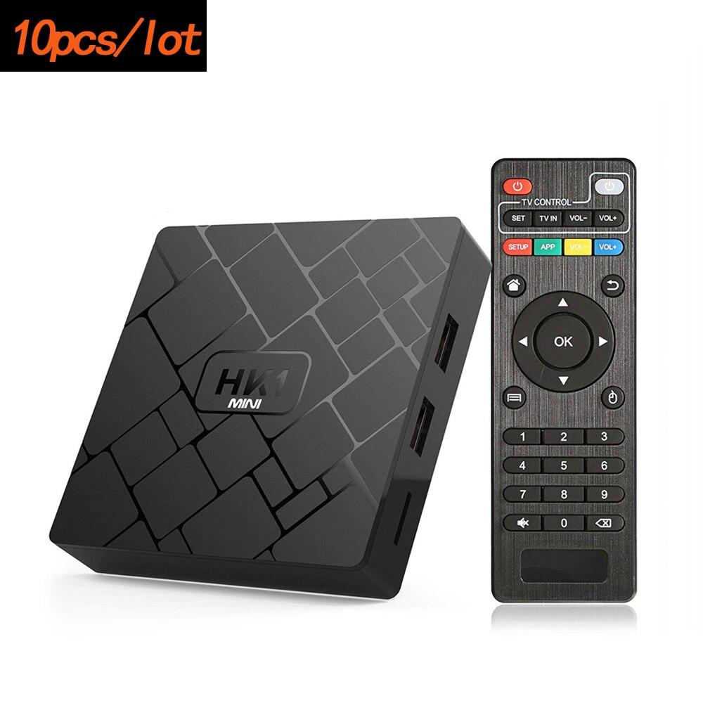 10pcs Lot HK1 mini Android 9 0 OS Smart TV BOX RK3229 Quad Core 2GB RAM