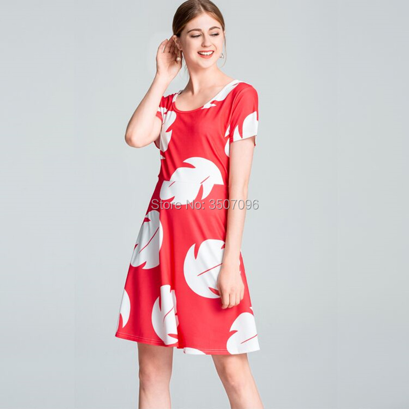 df08752cbb9 Women Dress Hawaii Style A Line Floral Print Casual Dresses Plus Size  Christmas Party Dress Cartoon Stitch Lilo Vestidos -in Dresses from Women s  Clothing ...