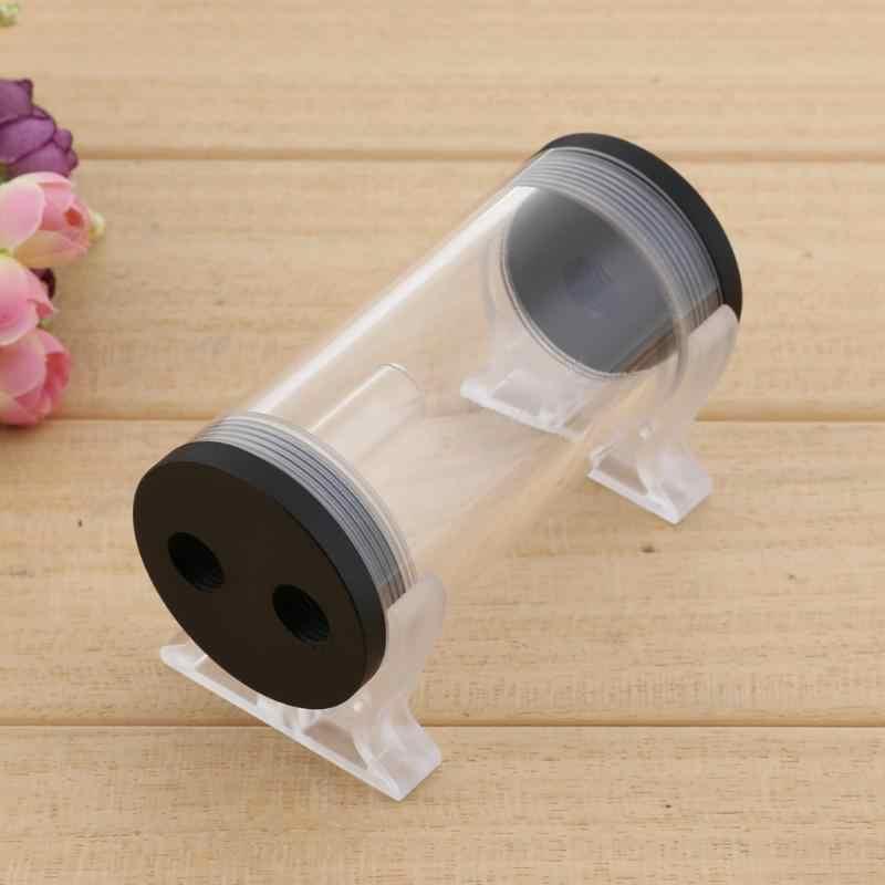 50mm diamètre 110mm réservoir de refroidissement par eau G1/4 filetage cylindre réservoir réservoir pour PC CPU ordinateur outil de refroidissement avec boucle en forme de L
