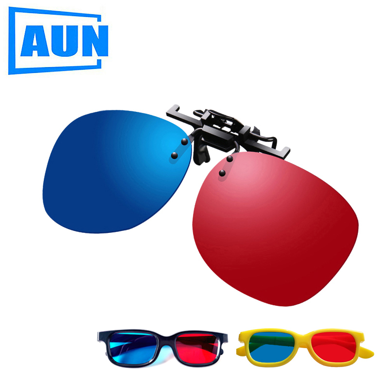 AUN 3d-Glasses Led-Projector-Support Video-Picture Blue Red for 2pcs Dl02 Simple