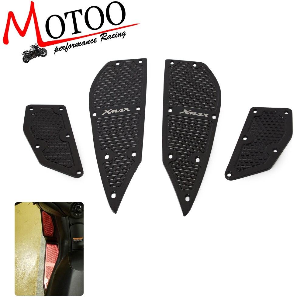 Repose-pieds moto pédales CNC repose-pieds tapis pédales en alliage d'aluminium renforcé repose-pieds pour YAMAHA Xmax 300 XMAX300 17-18