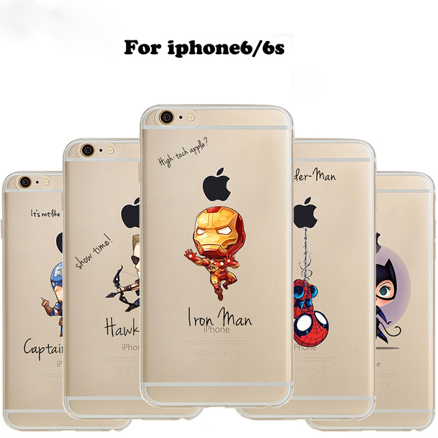 info for 76de9 bc34a Phone Case Marvel The Avengers Batman Comics Superhero soft Clear TPU case  cover for iPhone 5 5S SE 6 6plus 6s plus 7 7plus