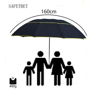 130cm Big Three Floding Men Umbrella  Rain Woman Windproof Large Paraguas Male Sun Business Umbrella Outdoor Parapluie Wholesale