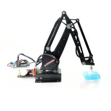 Para Arduino Bomba All-metal RC Robot Arm 270 ° Rotação Educacional Kit Com Servo Digital(China)