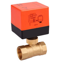 AC 220V DN15mm DN32mm 2 Way 3 Wire Electric Motorized Brass Ball Valve With Actuator
