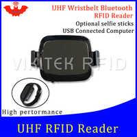 Leitor de RFID UHF leitor portátil de bolso mini relógio bluetooth conecte o telefone Móvel fácil de usar pequeno usb android chip escritor copiadora