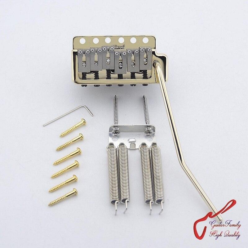 Véritable Wilkinson WVPC-SB guitare électrique trémolo système pont. Selle en acier. Bloc d'acier (or) fabriqué en corée