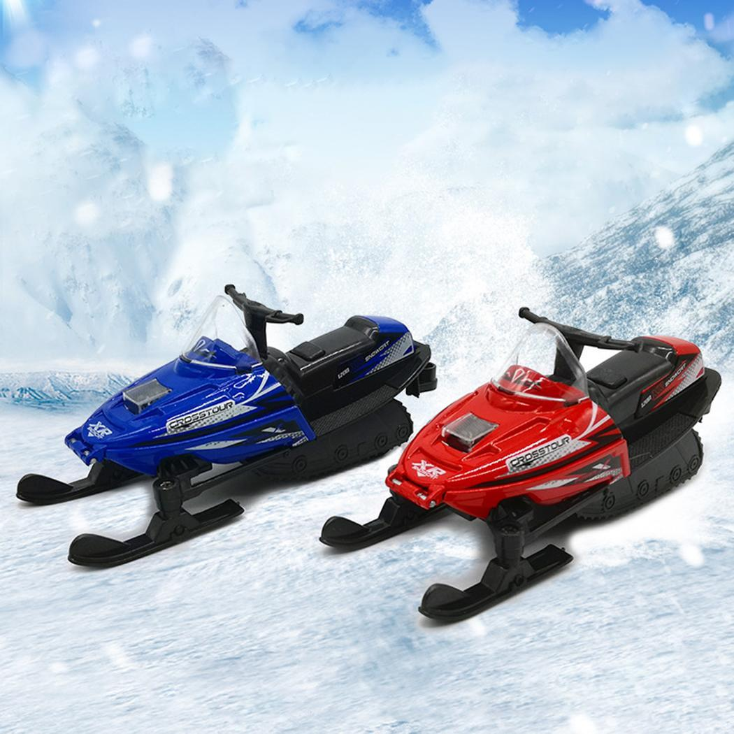 Snowmobile Car Pull Back Alloy Car Over 3 Years Old 1:32 Model Mini Red, Blue Simulation Light Music Toys