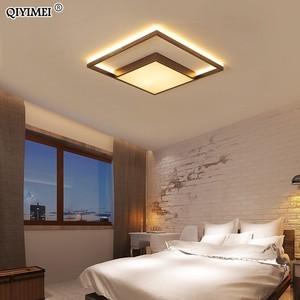 Image 5 - VUÔNG Đèn LED Âm Trần Phòng Khách Phòng Ngủ Điều Khiển từ xa Lamparas De Techo Moderna vàng cà phê Khung Nhà Đèn