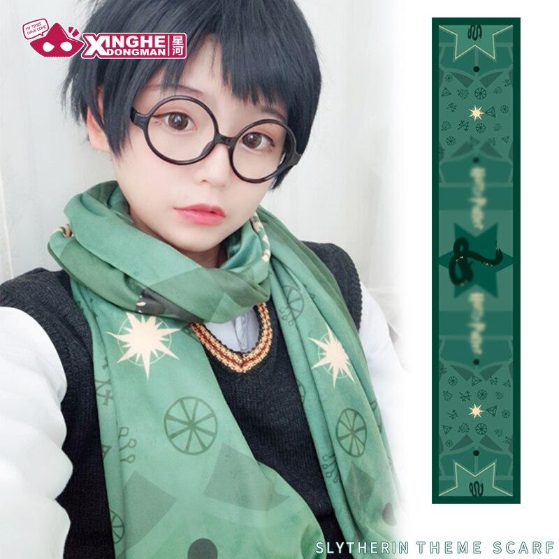 Milky Way Anime Harri Slytherin Scarf Towel Green Potter Unisex  Velvet Cute Velvet Scarf Towel Girl Gift 190CM