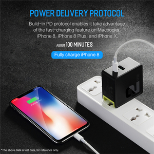 Image 5 - PD USB Type C Charger Adapter For iPhone XsMax X 8Plus Qc 3.0 FCP 36w Fast charging For Huawei Quick Travel/Wall Charger EU Plug