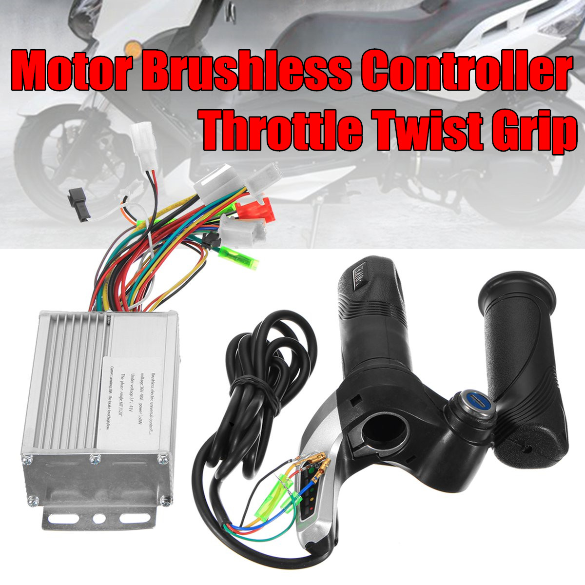 Sctooter  36V 350W motor brushless controller 3 Phase Line + Throttle twist grip electric bike scooter speed control boxSctooter  36V 350W motor brushless controller 3 Phase Line + Throttle twist grip electric bike scooter speed control box