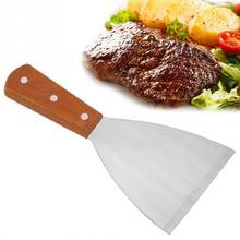 Нержавеющая сталь с антипригарным покрытием термостойкий барбекю гриль Beafsteak лопатка, кулинария инструмент барбекю гриль шпатель