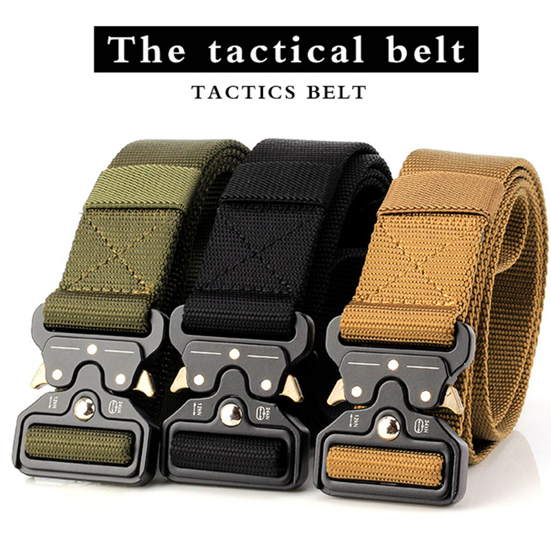 SWAT Military Equipment Army Belt Men's Heavy Duty US Soldier Combat Tactical Belts Sturdy 100% Nylon Waistband