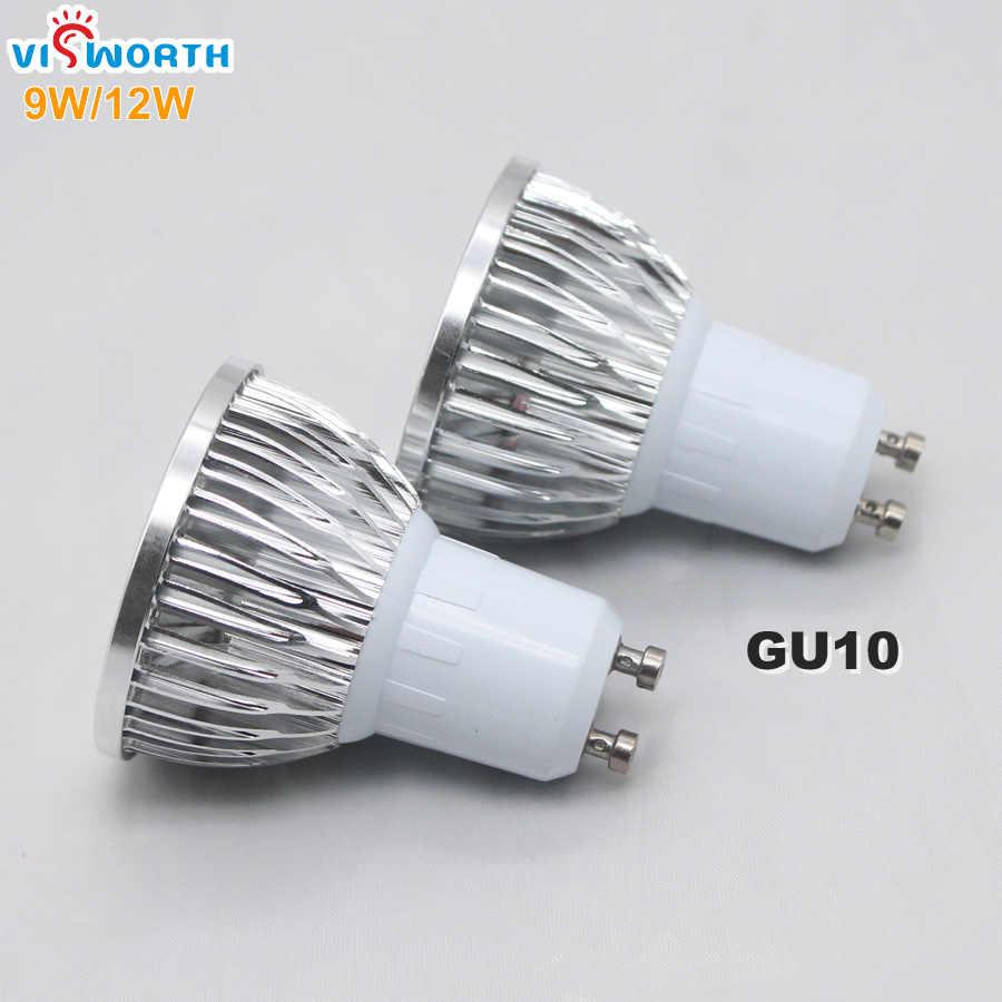 Оптовая GU10 светодиодные прожекторы 2 Вт 3 Вт 5 Вт лампы чашки 9 Вт 12 Вт 15 Вт удара светодиодные лампы переменного тока 110 В 220 В 240 В светодиодные лампы теплый холодный белый свет