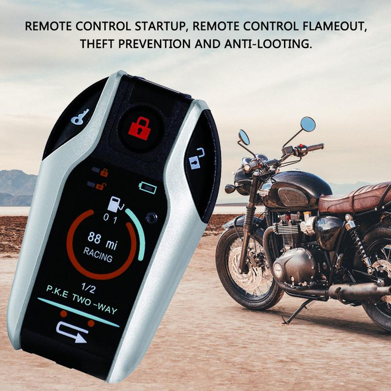 Car Motorcycle Engine Start Remote Alarm Motorcycle Automoti
