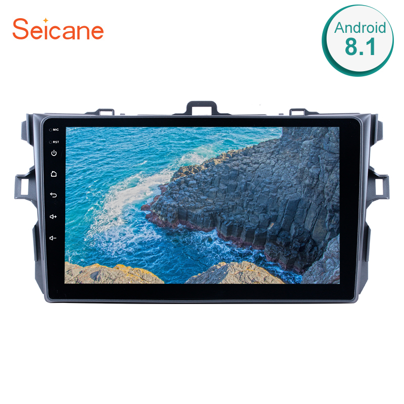 Seicane 2Din Car GPS Radio For 2006 2012 Toyota Corolla Android 8.1 91080P Touchscreen Multimedia Player Support Backup Camera