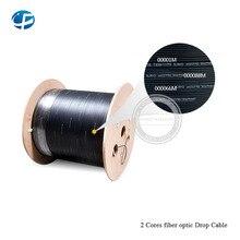 1000 м/рулон 2 ядра 3* стальная проволока открытый FTTH волоконно-оптический кабель LSZH оболочка волоконный кабель