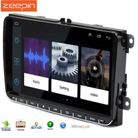 Zeepin Universal 9 Inch Car DVD Player Radio Android 6.0 2din Touch Screen Car Multimedia Player With Ultra Thin Body For VW