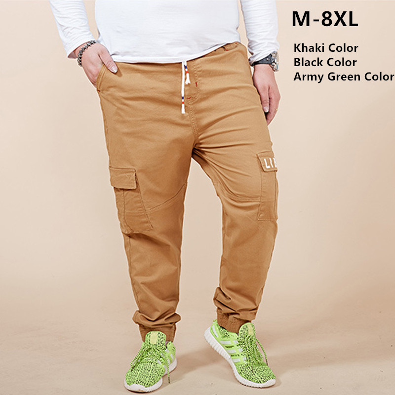Cargo Pants Men Streetwear Pantalones Hombre Joggers Army Trousers Plus Size 5XL 6XL 7XL 8XL Mens Jogger Kargo Khaki Black Pant