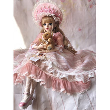 60CM BJD Doll Girls Princess Makeup Toys Jointed With Full Outfit SD Dolls Children DIY Dress Up Doll Valentines Gift недорого