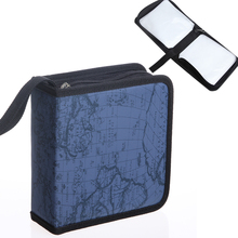 40/80 Disc CD Map Stripe Case Car Box Home Package Organizer Storage Bag Album Protective Cover DVD Holder Carry