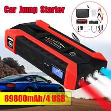 89800 mAh 4USB Auto Jump Starter Multifunctionele Emergency Charger Batterij Power Bank Pack Booster 12 V Start Apparaat Waterdicht(China)