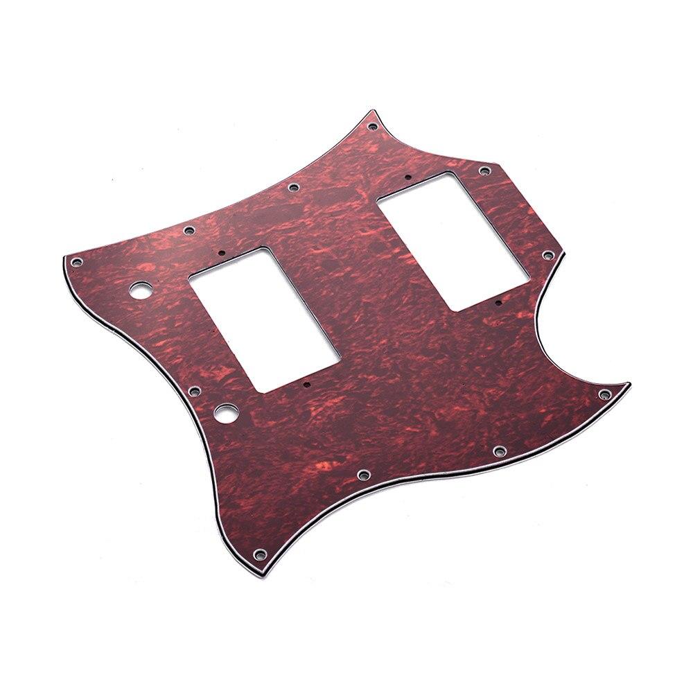 pvc hh electric guitar pickguard scratch plate for sg electric guitars 3 colors guitar parts. Black Bedroom Furniture Sets. Home Design Ideas