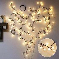 2.5M 72LedsLED String Lights Vine Branch Ball Milky White Fairy Lights for New Year Christmas Home Decor CF