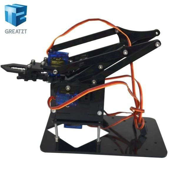 GREATZT Acrylic Mechanics Handle Robot 4 DOF arm arduino Created Learning Kit SG90