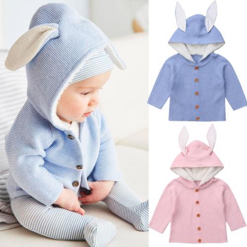 100% Kwaliteit 2018 Fashion Leuke Herfst Pasgeboren Peuter Kids Baby Meisjes Jongen Kleding Gebreide Effen Trui Jas Bovenkleding