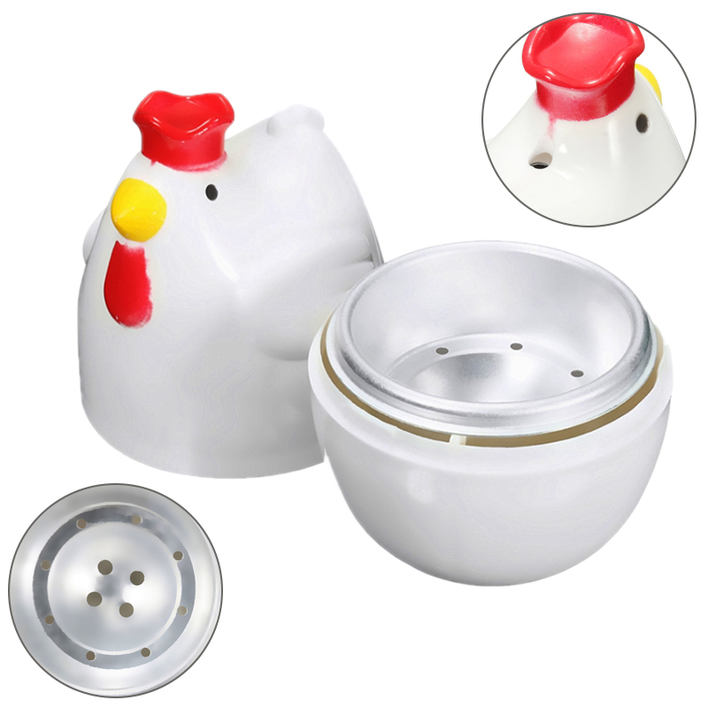 Chick-shaped 1 Boiled Egg Steamer Steamer Pestle Microwave Egg Cooker Cooking Tools Kitchen Gadgets Accessories Tools